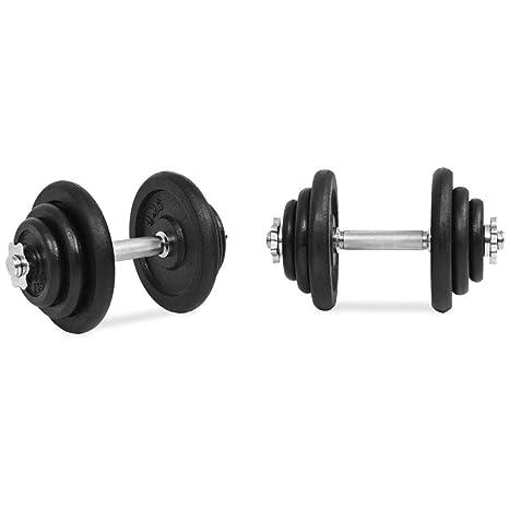 Xingshuoonline - Juego de Mancuernas de Hierro Fundido (18 Piezas, 40 kg, Fitness