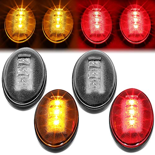 4Pcs Dually Bed Fender LED Side Marker Light for 99-10 Ford F250/F350/F450 Super Duty (F350 04 Duty Pickup)