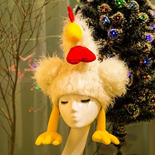Turkey Hat Cartoon Hat Thanksgiving Christmas Children Adult General Masquerade Cosplay Performance Show Drama Anime Prop Exaggeration Animal Headwear White The Underwater World/White/Uniform