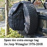 JoyTutus Fits Jeep Wrangler Spare Tire Trash Bag Backpack for JK JKU YJ TJ Cargo Storage Bag