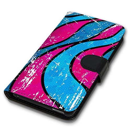Wallet Book Style Flip Handy Tasche Case Schutz Hülle Schale Motiv Etui für Apple iPhone 6 / 6S - Design Flip MVD202