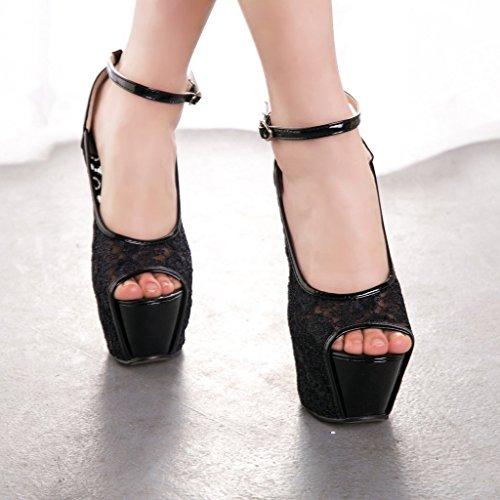 GetmorebeautyUpdate - Zapatos con tacón mujer Negro - negro