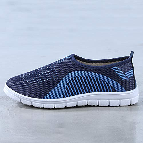 VonVonCo Men's Casual Slip-On Sport Shoes Sneaker Comfortable Footwears Loafers Shoes Blue by VonVonCo (Image #6)