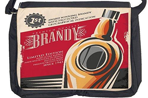 Borsa Tracolla Party Retro Brandy Stampato Bar Pub Restaurant