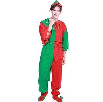 Zyx Adultos Navidad Elfo Traje Vestido de Navidad Traje Sombrero ...