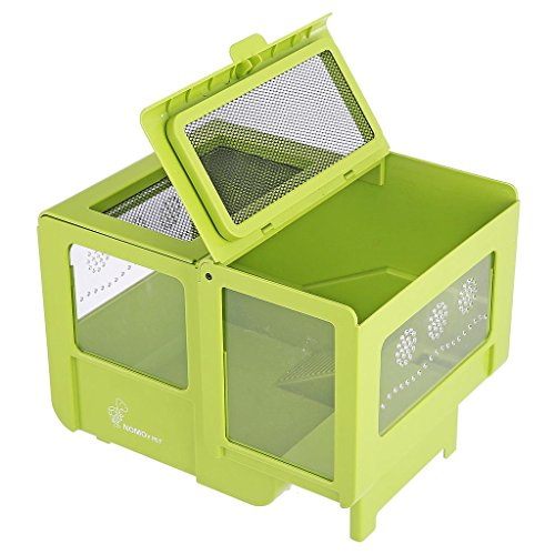 NOMO Amphibian and reptile feeding box Turtle house (Green)