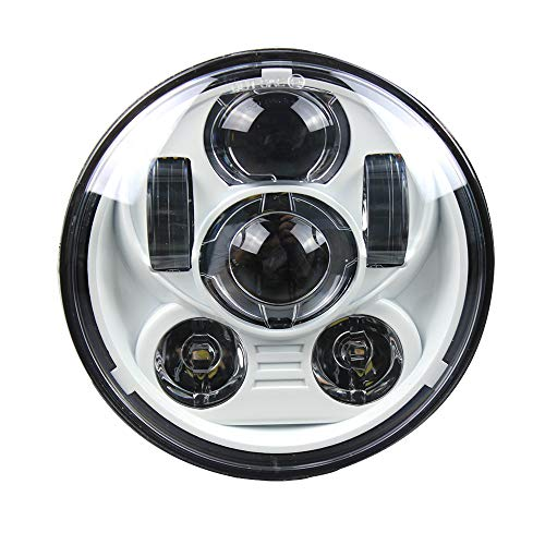 "5.75inch 5-3/4"" LED Headlight Motorcycle 45w Hi/low Beam Projection Headlamp driving Light(White Color)"