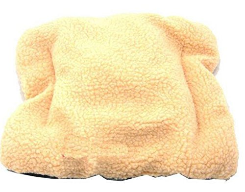 Cuccia ovale da Cucciolo di Cane o Gatto Westeng in pile morbido giallo 1 pezzo