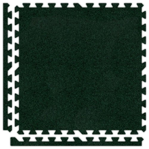 Alessco SCEG3030 Premium Softcarpets Tile Set, 30' x 30', Emerald Green