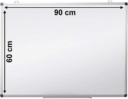 Senza cornice Lavagna bianca magnetica 60x90 cm