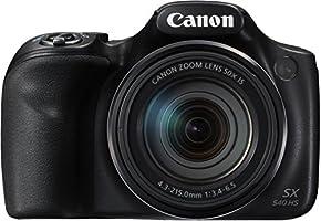 Canon PowerShot SX540 HS Fotocamera Bridge Digitale, 20.3 Megapixel, Nero/Antracite [Versione EU]