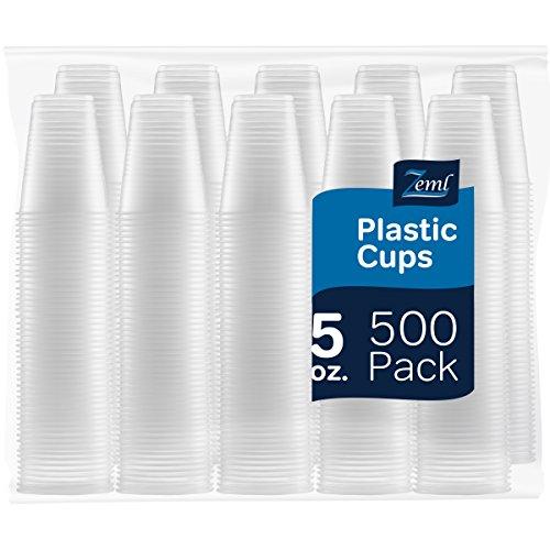 Zeml Disposable Clear Plastic Cups (5 oz.)