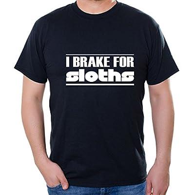 Custom Brother - I Brake For Sloths Unisex Short Sleeve T Shirt - Sloth T-Shirts