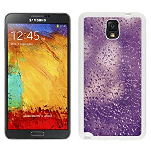 NEW Unique Custom Designed Samsung Galaxy Note 3 N900A N900V N900P N900T Phone Case With Purple Water Droplets Texture_White Phone Case