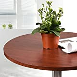Adjustable Bar Table –Swivel Round Pub Table MDF Top with Base for Home Kitchen Bistro (Brazil Wood)