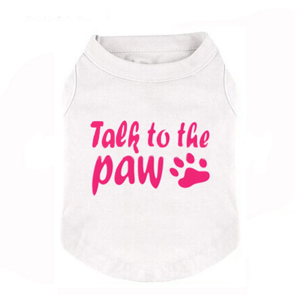 Dog Summer T Shirt , Puppy Lightweight Vest Clothes Breathable Sleeveless T-shirt Cat Puppy Casual Clothes for Summer Spring (S, White)