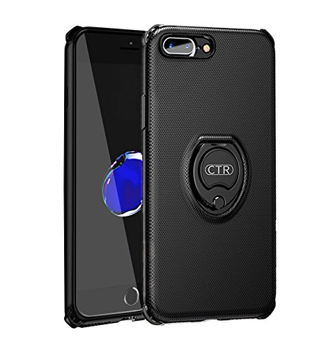 san francisco 6385d 01d75 iPhone 7 Plus Case with Ring Holder Kickstand Function, 360 Degree Rotating  Ring Holder Grip Case Ultra Slim Thin Hard Cover for iPhone 7/8Plus