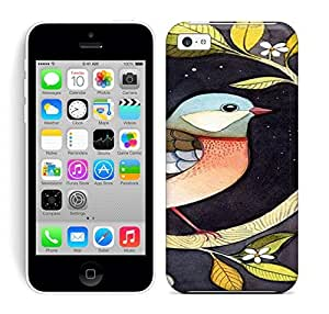 Best Power(Tm) HD Colorful Painted Watercolor Beautiful Watercolor Bird Painting Hard Phone Case For Iphone 5C