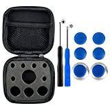 eXtremeRate 4 in 1 Metal Magnetic Thumbsticks Analogue Joysticks T8H Cross Screwdrivers Replacement Repair Kits With Storage Case for Xbox One S Elite PS4 Slim Pro Nintendo Switch Pro Controller Blue For Sale