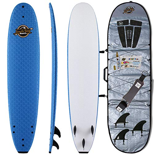Soft Top Surfboards - Packages - by SBBC (Blue - 8'8, 8'8 Heritage + Board Bag Deluxe Package)
