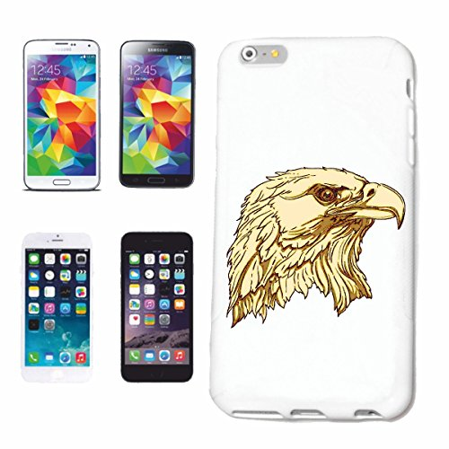 "cas de téléphone iPhone 6+ Plus ""EAGLE, VULTURE RAPTOR proie BUZZARD"" Hard Case Cover Téléphone Covers Smart Cover pour Apple iPhone en blanc"