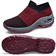 Belilent Slip On Walking Shoes Women Lightweight Sneakers Work Hiking Running Shoes Breathable Air Cushion Ind