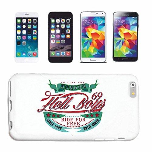 """cas de téléphone iPhone 7S """"HELL RIDE BOYS GRATUIT HONOUR BIKER SHIRT MOTO CHOPPER MOTO GOTHIQUE SKULL MOTO CLUB BIKE ROUTE 66"""" Hard Case Cover Téléphone Covers Smart Cover pour Apple iPhone en blanc"""