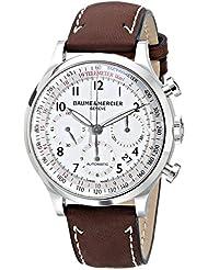 Baume & Mercier Mens 10000 Capeland Silver Chronograph Dial Watch