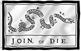 ANLEY® [Fly Breeze] 3x5 Foot Join Or Die Flag - Vivid Color and UV Fade Resistant - Canvas Header and Double Stitched - Rattlesnake Flags Polyester with Brass Grommets