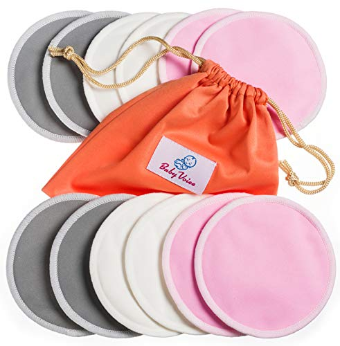 Why Choose Washable Nursing Pads 12 Pack | Organic Bamboo | Laundry & Travel Bag | Softest Reusable ...