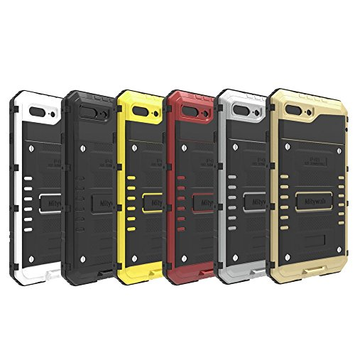 IP68 Waterproof Shockproof Dustproof Mobile Tasche Hüllen Schutzhülle - Case für iPhone 7 Plus (Silicone + Metal) - schwarz
