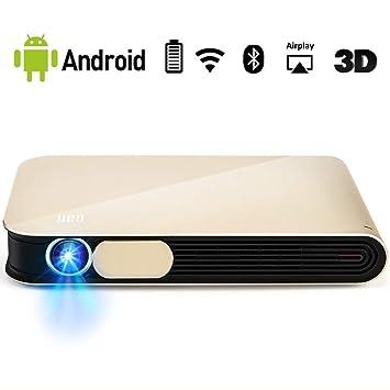 WOWOTO Can Pro Mini proyector 3D con batería de 1080P de 4000 ...