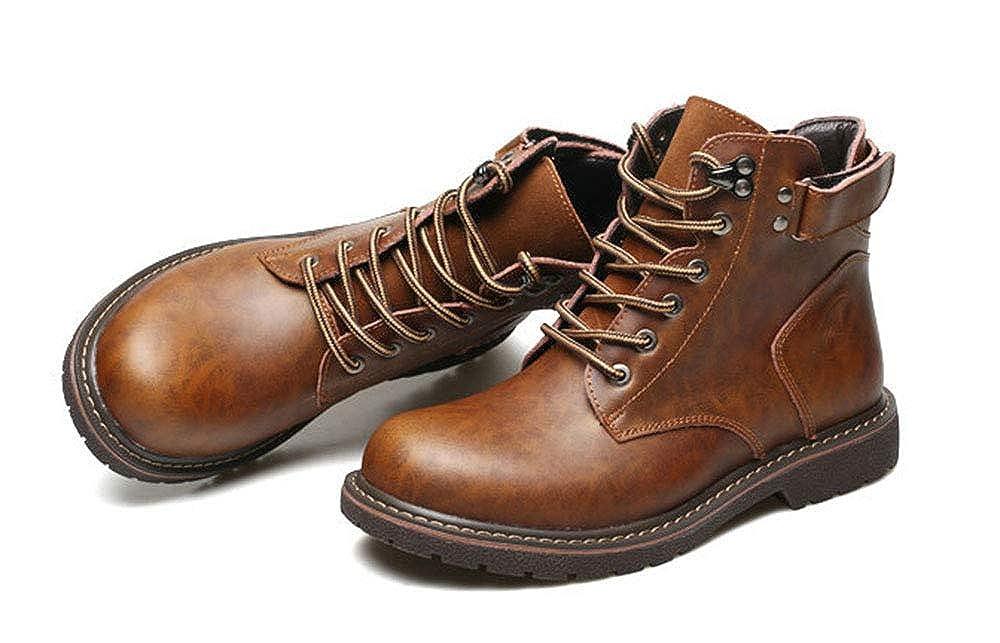ZXLO Männer Hochhaus Outdoor-Stiefel Rutschfeste Trekking Schuhe Spitzen-Outdoor-Schuhe für den Sport, aterproof Wander Stiefel, Wandern Klettern Trekking