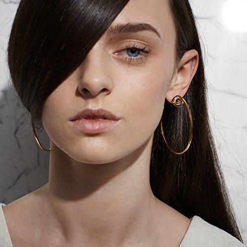 Lara Bohinc Boucles d'oreilles - Plaqué or - Quartz transparent - Femme
