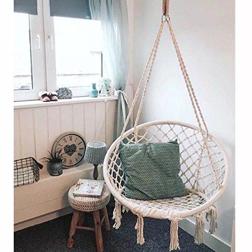 Nopteg Sorbus Hammock Chair Macrame Swing Handmade Knitted Hammock
