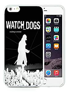 Watch dogs White Silicone TPU Iphone 6 Plus 5.5 Inch Phone Cover Case