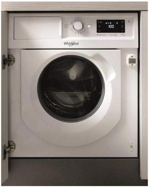 Whirlpool - ENC (NPU) - Lavadora Totalmente integrable, fresacar, 7+5 kg, 1400 TRS, B, Motor de inducción, Interfaz Big Digit con