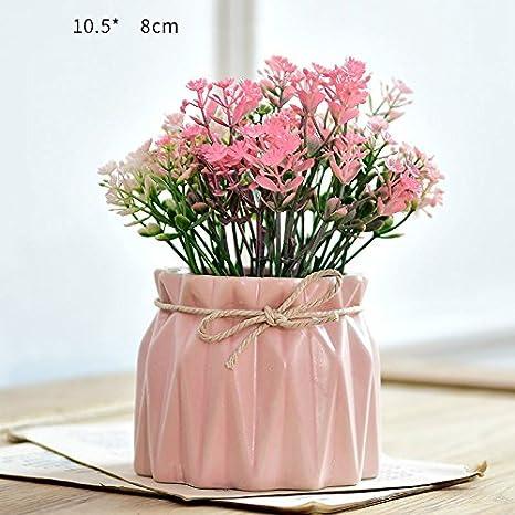 Plantas en macetas adornos de flores decoraciones smallbonsai flor de plástico,Flor morada: Amazon.es: Hogar