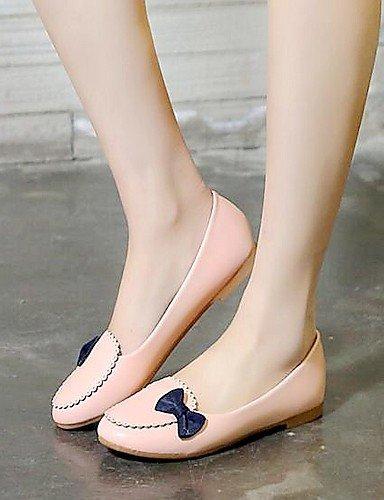 Ufficio Ballerine ShangYi Finta Blue Bianco Piatto lavoro Light Donna Rosa Scarpe pelle Casual Blu e Comoda BrttxEw