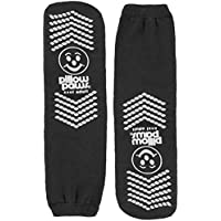 Bariatric Double Tread Non-Slip Terry-Cloth Slipper Socks, Black XXXL (3 Pairs) (6 Total)