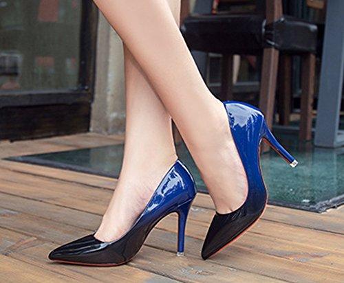 Aiguille Bleu Mode Talon Bride Aisun Escarpins Femme Cheville qUTwFt