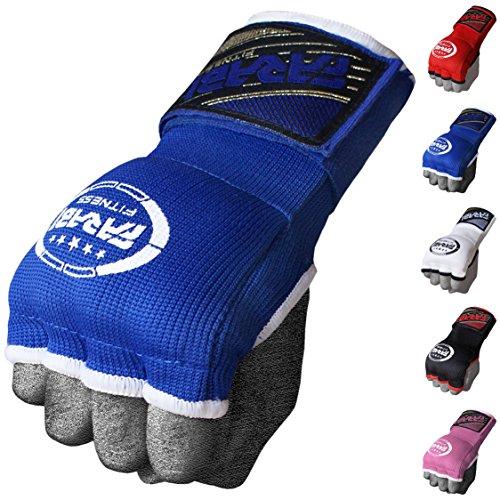 Farabi Kids Hybrid Boxing Inner Gloves Punching Boxing MMA Muay Thai Gym Workout Hand Wraps Gel Inner Gloves Fingerless Gloves Bandages Mitts Hand Protector. (Junior, Blue)