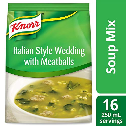 Knorr Professional Soup du Jour Italian Style Wedding with Meatballs Soup Mix No added MSG 0g Trans Fat per Serving Just Add Water 182 oz Pack of 4