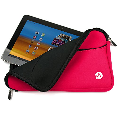 Women Tablet Pouch Carrying Case Sleeve Bag Pocket 10.1inch for Visual Land Prestige Elite 10Qs / Prime 10Es / Premier 9 / Premier 10 (Magenta)