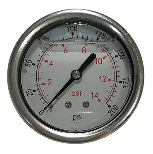 PneumaticPlus LFSB25-200 Liquid Filled Pressure Gauge WOG- 1/4