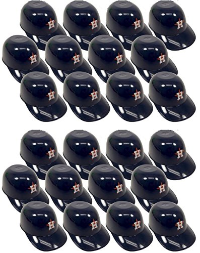 MLB Mini Batting Helmet Ice Cream Sundae/ Snack Bowls, Astros - 24 Pack
