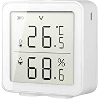 Atrumly Rum termometer, smart WiFi fuktighetssensor hygrometer utomhus inomhus digital LCD-display temperatur…