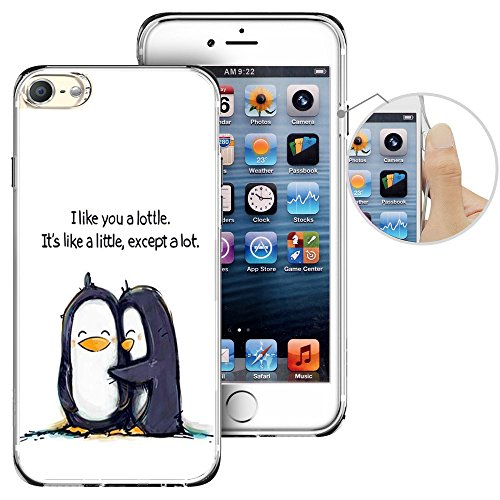 For iPod Touch 6th Case, LAACO Beautiful Clear TPU Case Rubber Silicone Skin Cover for Apple iTouch 6 - Cute little penguin