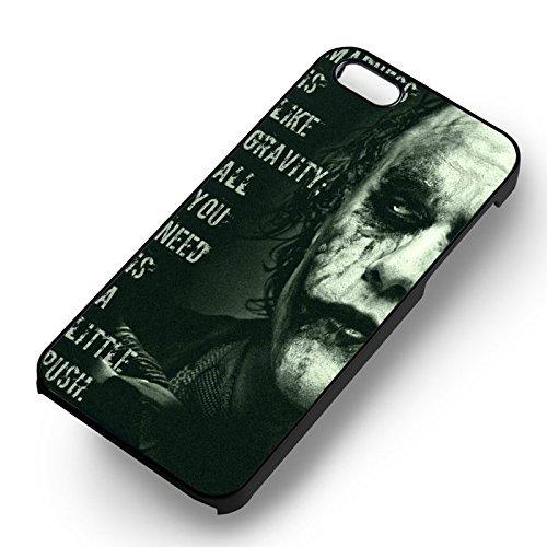 Madness Joker Quotes pour Coque Iphone 6 et Coque Iphone 6s Case (Noir Boîtier en plastique dur) O0L3IE