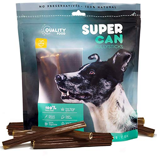 SUPER CAN BULLYSTICKS Premium Taffy Esophagus Strips & Gullet Sticks for Dogs - 100% Natural Dog Treats and Chews. (6